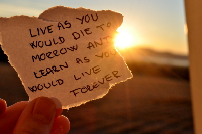 live as you would