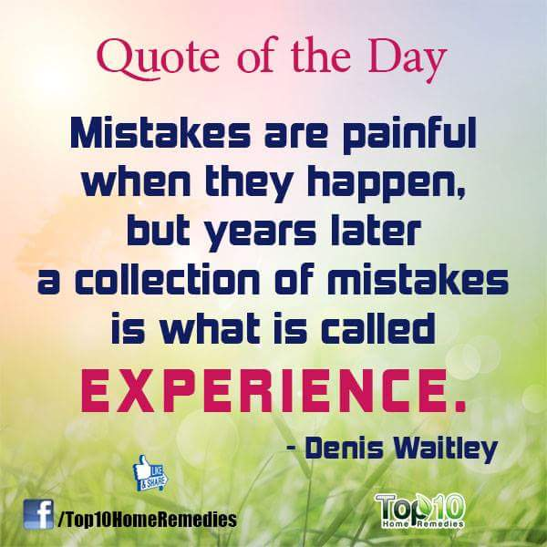 mistakes experience