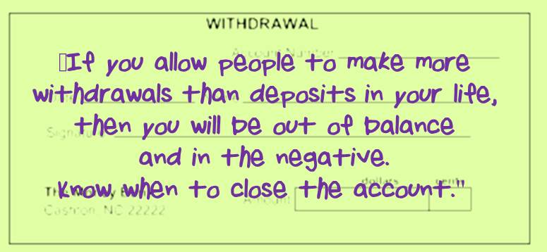 withdrawal