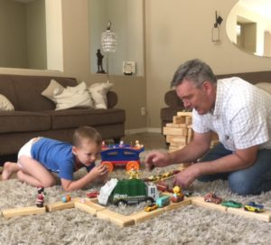 playing blocks with jospeh